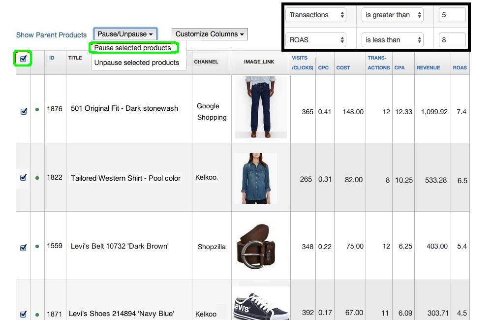 datafeedwatch-analytics-costo-de-datos-eliminar-filtro-no-rentable