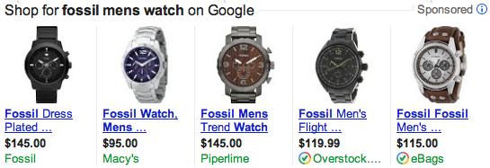 anuncio-de-listado-de-productos-fossil-watch